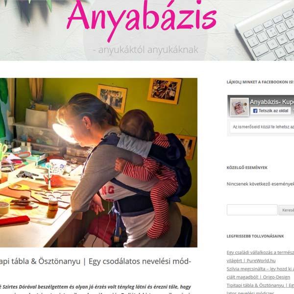 ösztönanyu montessori szülőknek, megjelenések - Anyabázis
